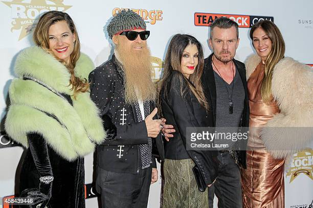 Gilligan Stillwater Billy Gibbons Loree Rodkin Billy Duffy and AJ Celi attendd the Classic Rock And Roll Honour 2014 Award Ceremony at Avalon on...