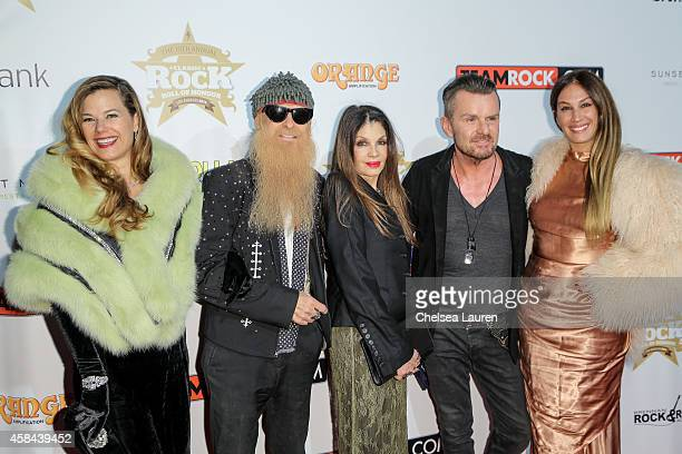 Gilligan Stillwater, Billy Gibbons, Loree Rodkin, Billy Duffy and AJ Celi attendd the Classic Rock And Roll Honour 2014 Award Ceremony at Avalon on...