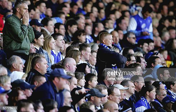 Gillingham fans look dejected as their team are relegated to the First Division during the Coca Cola Championsip match between Nottingham Forest and...