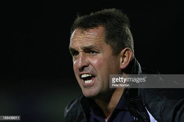 Gillingham manager Martin Allen looks on during the npower League Two match between Northampton Town and Gillingham at Sixfields Stadium on October 2...