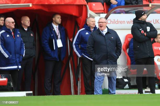 Gillingham manager Steve Evans during the FA Cup match between Sunderland and Gillingham at the Stadium Of Light Sunderland on Saturday 9th November...