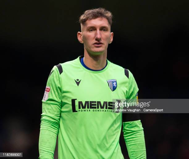 Gillingham's Jack Bonham during the Sky Bet League One match between Gillingham and Lincoln City at MEMS Priestfield Stadium on November 16 2019 in...