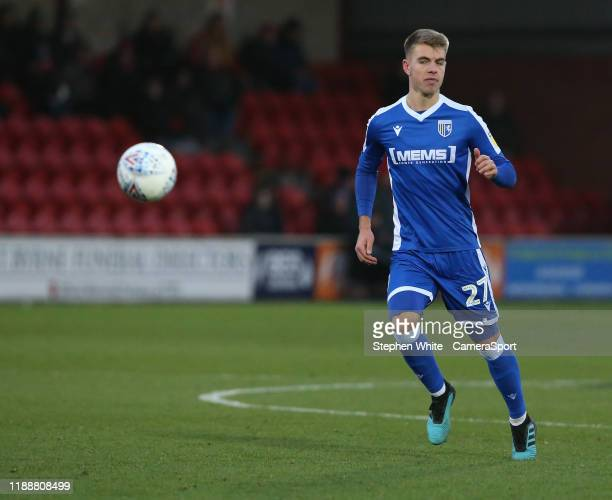 Gillingham's Jack Tucker during the Sky Bet League One match between Fleetwood Town and Gillingham at Highbury Stadium on December 14 2019 in...