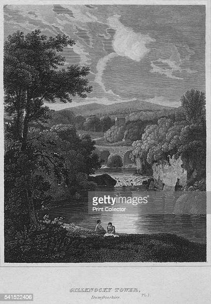 Gillknocky Tower Dunfrieshire Pl 1' 1814 From The Border Antiquities of England and Scotland Vol II by Walter Scott Esq [Longman Co London 1814]...