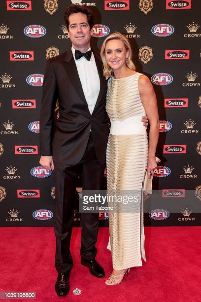 Gillon and Laura Mclachlan attends 2018 Brownlow Medal at Crown Entertainment Complex on September 24 2018 in Melbourne Australia
