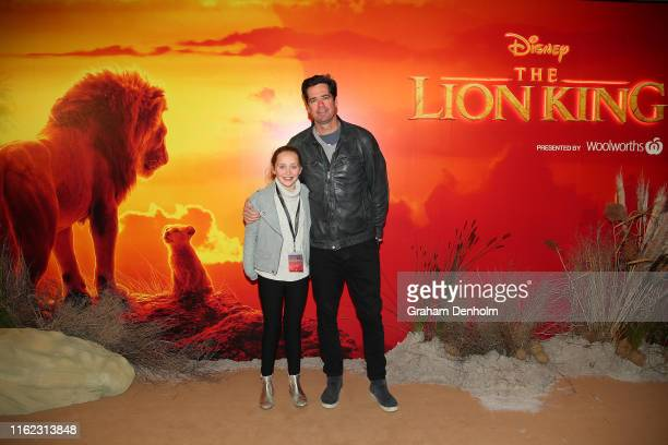 Gillon McLachlan and his daughter Cleo attend The Lion King Melbourne special event screening at Melbourne IMAX on July 16, 2019 in Melbourne,...