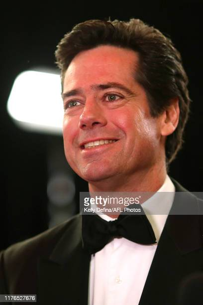 Gillon McLachlan CEO of the AFL arrives ahead of the 2019 Brownlow Medal at Crown Palladium on September 23, 2019 in Melbourne, Australia.