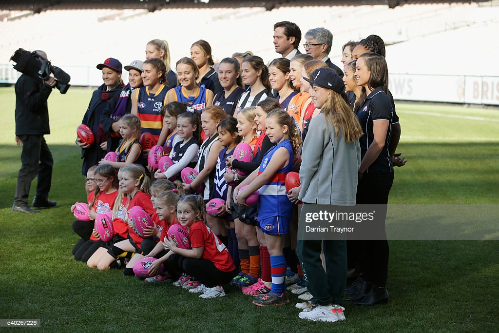 AFL Women's Teams Announcement : News Photo
