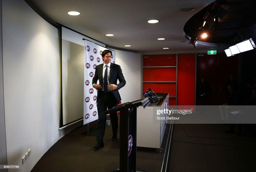 AFL Press Conference : News Photo
