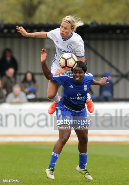 Gilly Flaherty during the Women's FA Cup Semi Final between Birmingham City Ladies and Chelsea Ladies at The Automated Technology Group Stadium on...