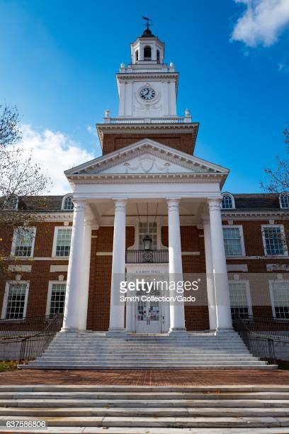 Gilman Hall on the campus of the Johns Hopkins University in Baltimore Maryland December 7 2016