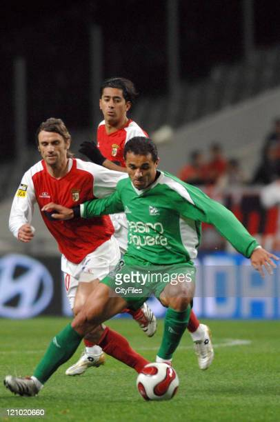 Gilmar and Joao Pinto during the Portuguese Premier League match between SC Braga and Naval on March 20 2007