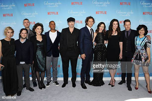 'Gilmore Girls A Year In The Life' Cast Liza Well Danny Strong Sean Gunn Kelly Bishop Yanic Truesdale Scott Patterson Tanc Sade Alexis Bledel Lauren...