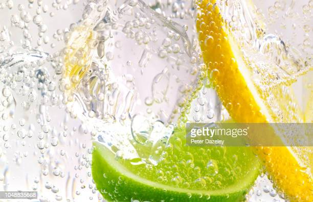gin and tonic with lemon and lime - freshness stock pictures, royalty-free photos & images