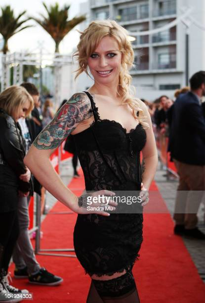 Gin Wigmore arrives for the 2010 Vodafone Music Awards at Vector Arena on October 7 2010 in Auckland New Zealand