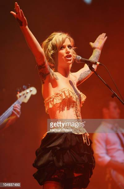 Gin Wigmore performs during the 2010 Vodafone Music Awards at Vector Arena on October 7 2010 in Auckland New Zealand