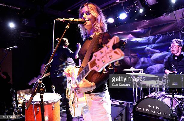 Gin Wigmore performs on stage at Dingwalls on October 7 2015 in London England