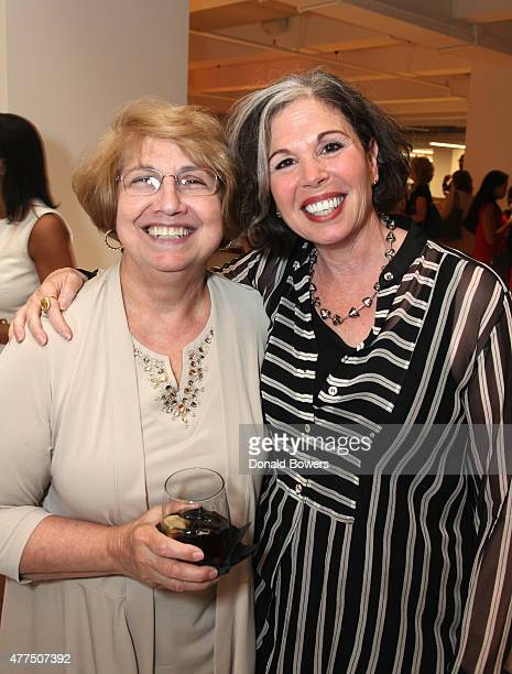 Gina Barnett and guest attend the book release party for Gina Barnett's Play the Part at GLG on June 17 2015 in New York City