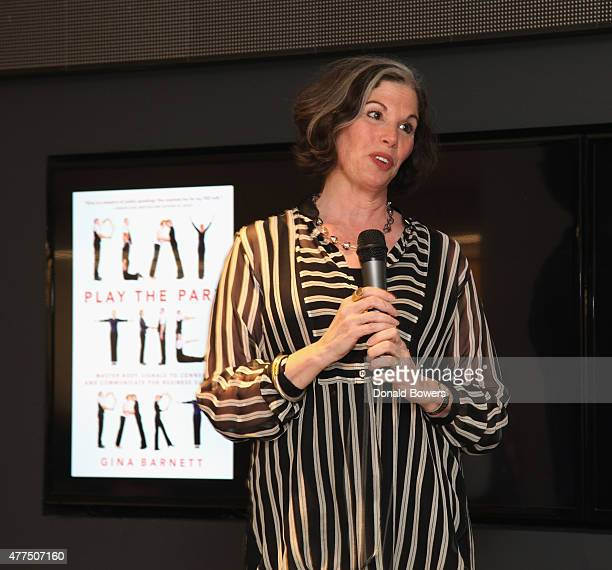 Gina Barnett speaks during her Book Release Party For Gina Barnett's Play the Part at GLG on June 17 2015 in New York City