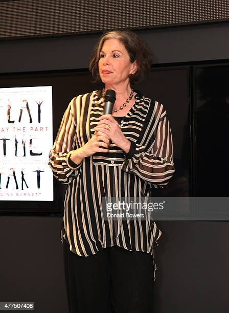 Gina Barnett speaks during her book release party for Play the Part at GLG on June 17 2015 in New York City