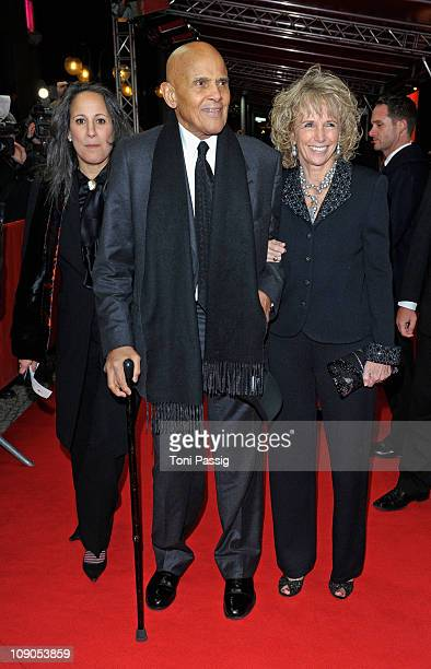 Gina Belafonte and Harry Belafonte with wife Pamela attend the 'Sing Your Song' Premiere during day four of the 61st Berlin International Film...