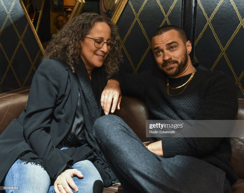 Gina Belafonte (L) and Jesse Williams at the premiere of Gravitas Pictures' 'Survivors Guide To Prison' afterparty at Bootsy Bellows on February 20, 2018 in West Hollywood, California.