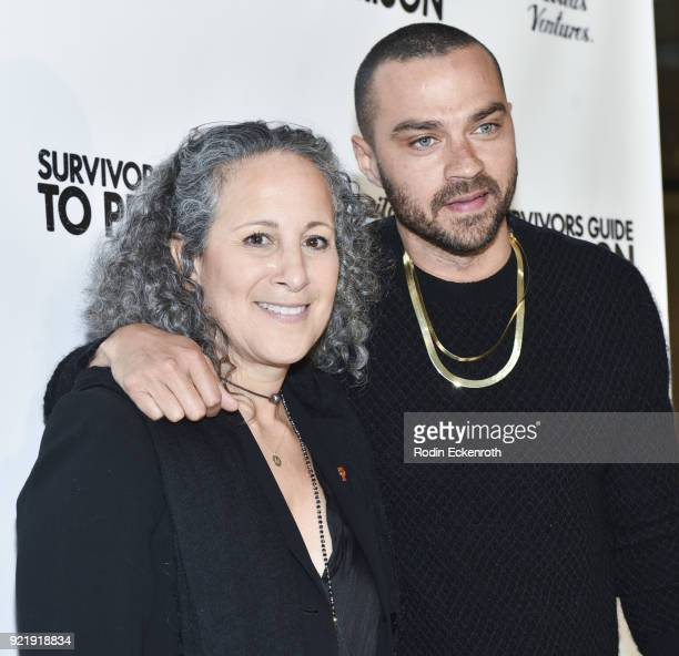 Gina Belafonte and Jesse Williams attend the premiere of Gravitas Pictures' 'Survivors Guide To Prison' at The Landmark on February 20 2018 in Los...
