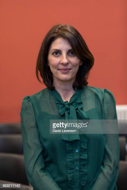 Gina Bellman actress at the FT Weekend Oxford Literary Festival on March 17 2018 in Oxford England