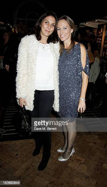 Gina Bellman and Allie Esiri attend the launch of 'iF A Treasury of Poems for Almost Every Possibility' at Daunt Books on September 27 2012 in London...