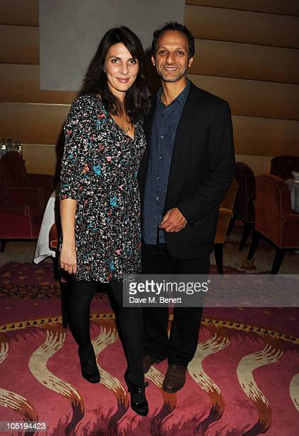 Gina Bellman and guest attend the launch of Salman Rushdie's new childrens book 'Luka and the Fire of Life' on October 11 2010 in London England