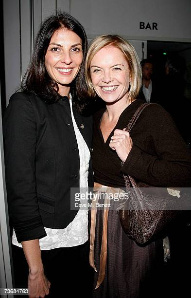 Gina Bellman and Mariella Frostrup attend the a fundraiser party for the Almeida Theatre at the Almeida Theatre on March 23 2007 in London England