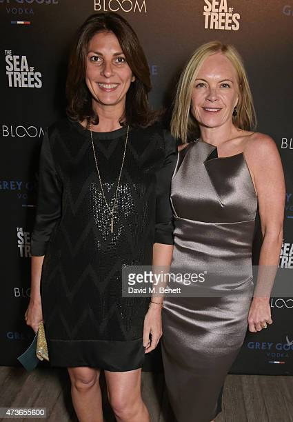 Gina Bellman and Mariella Frostrup attend The Sea of Trees party hosted by GREY GOOSE at Baoli Beach on May 16 2015 in Cannes France