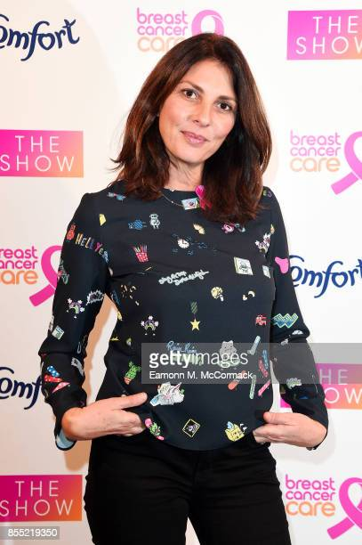 Gina Bellman attends the Breast Cancer Care London Fashion Show in association with Comfort at Park Plaza Westminster Bridge Hotel on September 28...