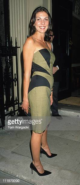 Gina Bellman during Wedding reception for Vivienne Westwood's Son Joseph in London Great Britain