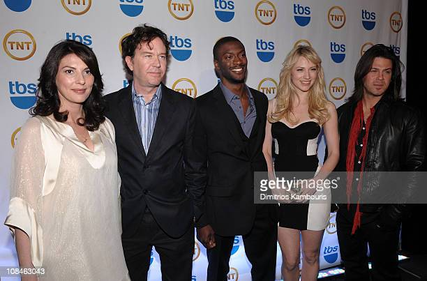 Gina Bellman Timothy Hutton Aldis Hodge Beth Riesgraf and Christian Kane attend the TEN Upfront presentation at Hammerstein Ballroom on May 19 2010...
