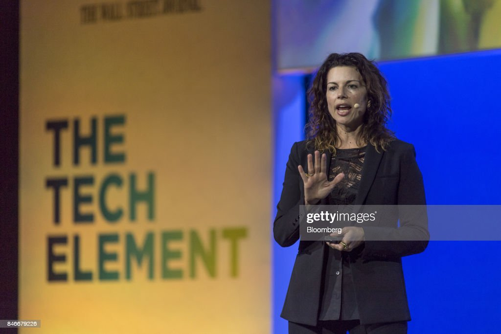 Gina Bianchini, founder and chief executive officer of Mighty Networks, speaks during the Mobile World Conference Americas event in San Francisco, California, U.S., on Wednesday, Sept. 13, 2017. Leaders from the mobile ecosystem will be presenting the challenges and opportunities in the industry and the impact it has on society. Photographer: David Paul Morris/Bloomberg via Getty Images
