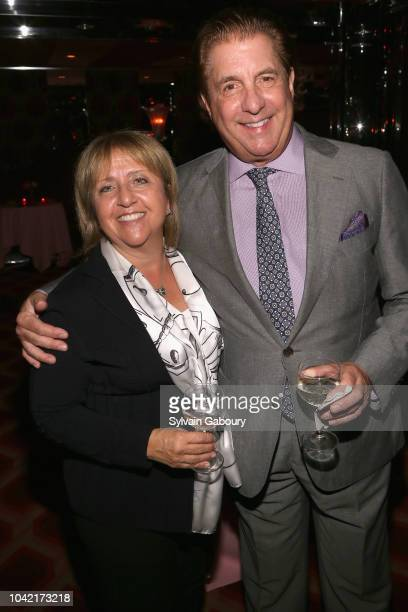 Gina Bonacci Clark and Stephen Candland attend David Patrick Columbia And Chris Meigher Toast The QUEST 400 At DOUBLES on September 27 2018 in New...
