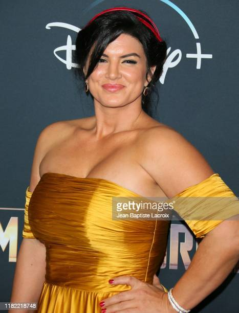"""Gina Carano attends the premiere of Disney+'s """"The Mandalorian"""" at the El Capitan Theatre on November 13, 2019 in Los Angeles, California."""
