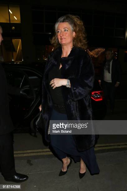 Gina Carter arrives at the Dunhill GQ preBAFTA Filmmakers Dinner and Party Cohosted by Andrew Maag Dylan Jones on February 15 2018 in London England