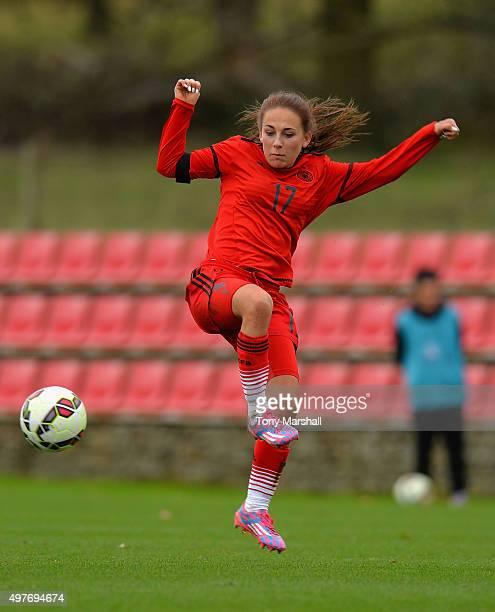Gina Chmielinski of Germany during Women's U16s International Friendly match between England U16s Women and Germany U16s Women at St Georges Park on...