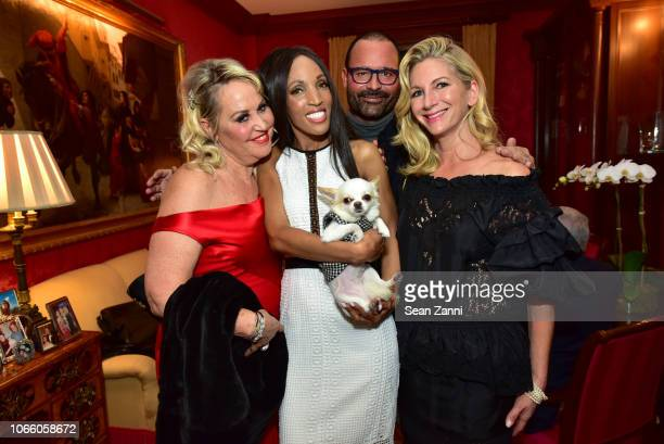 Gina de Franco Elena Ayot Stellabella Riccardo Paletti and Elizabeth Millstein attend Martin and Jean Shafiroff Host Holiday Cocktails in Honor of...