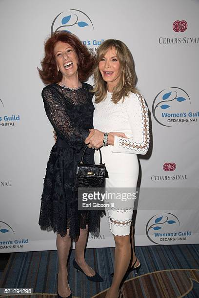 Gina Furth and Jaclyn Smith attend the 2016 Women's Guild CedarsSinai Annual Spring Luncheon at the Beverly Wilshire Four Seasons Hotel on April 14...