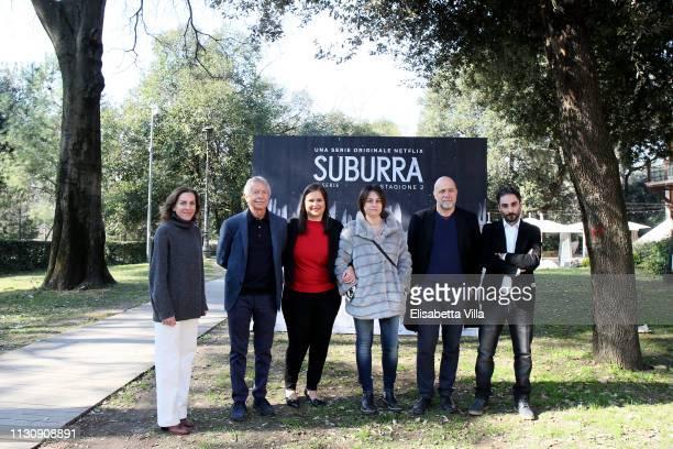 Gina Gardini Riccardo Tozzi Netflix Vice President International Originals Kelly Luegenbiehl Barbara Petronio Andrea Molaioli and Piero Messina...
