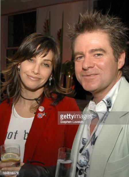 Gina Gershon and Charles Worthington during A Party for the Opening of The Charles Worthington Salon at The Charles Worthington Salon in New York...