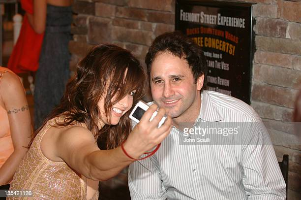 Gina Gershon and George Maloof during CineVegas Film Festival 2005 Las Vegas Showgirls Party at Fremont Street in Las Vegas Nevada United States