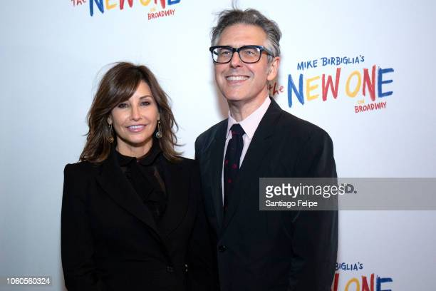 Gina Gershon and Ira Glass attend The New One Broadway Opening Night at Cort Theatre on November 11 2018 in New York City