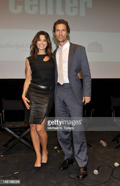 """Gina Gershon and Matthew McConaughey attend a screening of """"Killer Joe"""" at The Film Society of Lincoln Center on July 24, 2012 in New York City."""