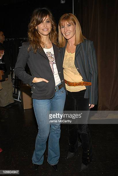 Gina Gershon and Nicole Miller during Spring 2005 Showing and Celebration of Millergirl at PM Nightclub in New York City New York United States
