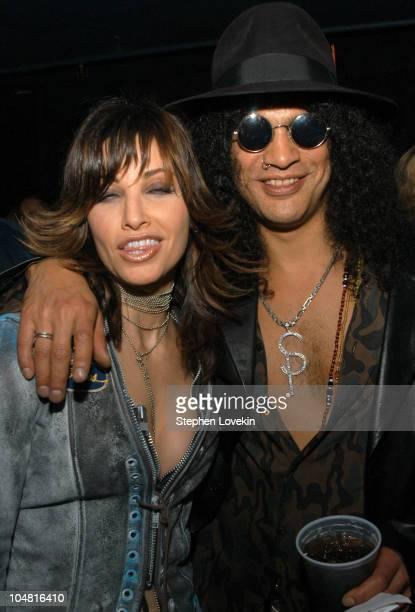 Gina Gershon and Slash during MTV Rock The Vote 10th Annual Patrick Lippert Awards at Roseland Ballroom in New York NY United States