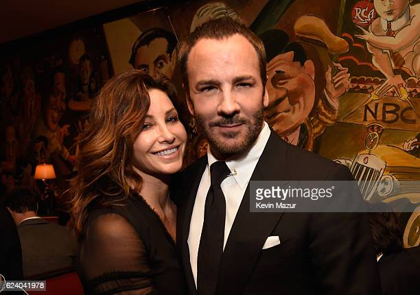 Gina Gershon and Tom Ford attend the New York Premiere of Tom Ford's 'Nocturnal Animals' at Monkey Bar on November 17 2016 in New York City